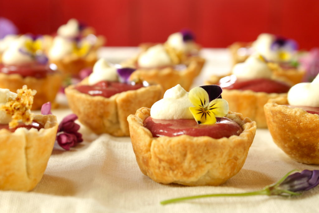 plum elderberry curd tartlets