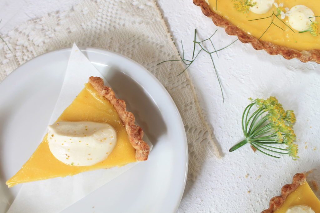 lemon olive oil tart fennel pollen